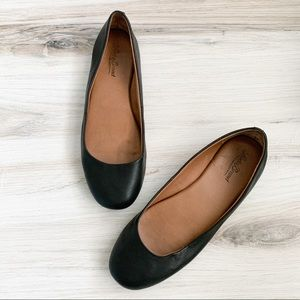 Lucky Brand Brenna Black Leather Flats